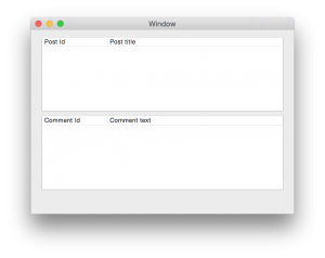 Sample window after first run (objective-c tutorial)